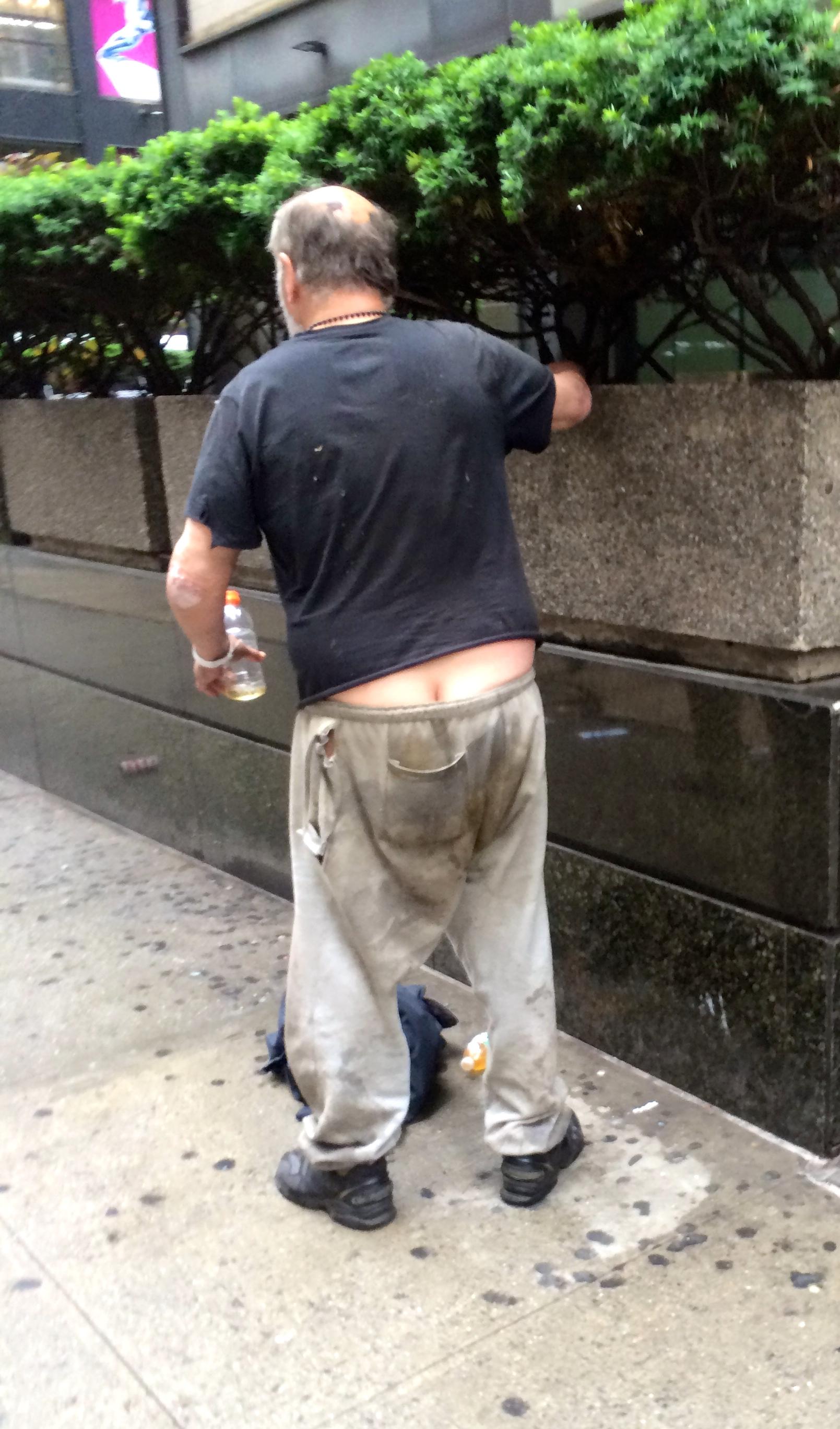 Belladona free man pooping pants