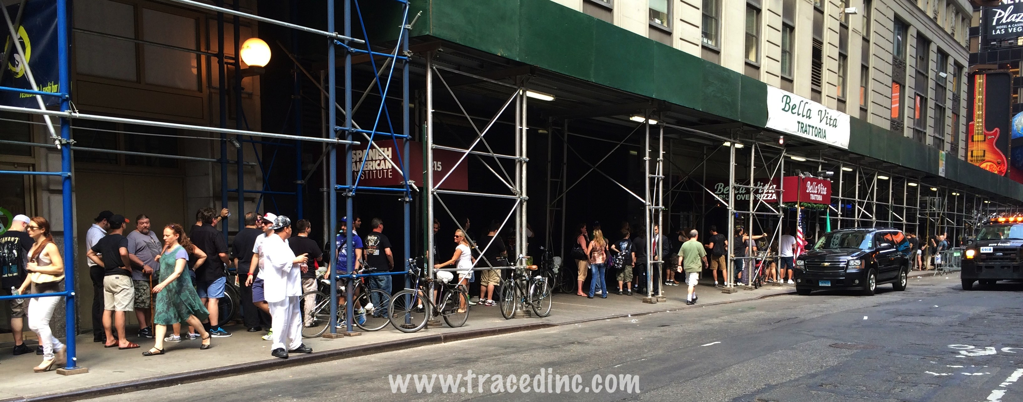 Fans wait to buy the new Judas Priest CD