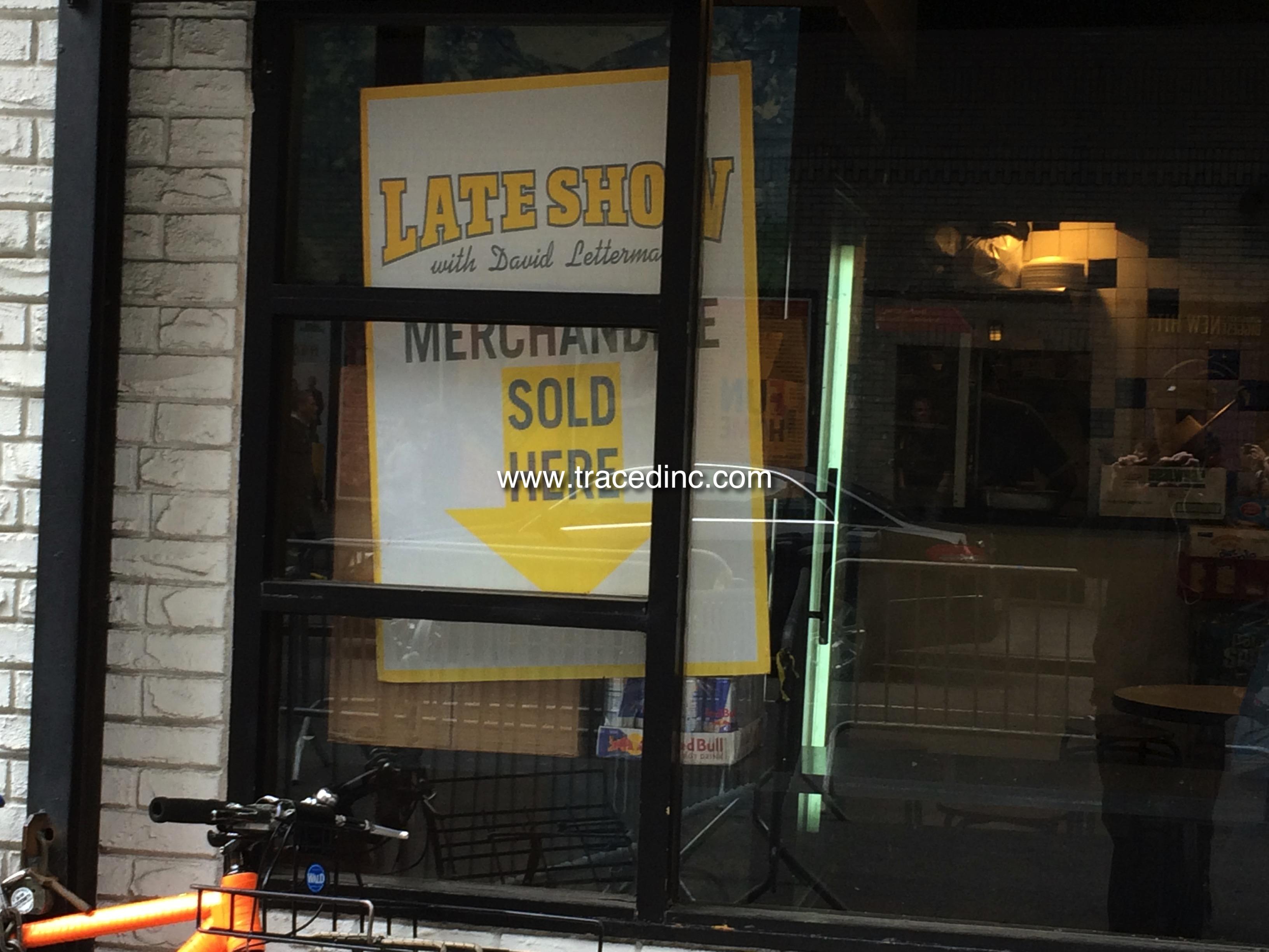 Sign in Hello Deli Window.