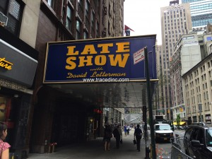 Late Show Marquee Sans Attached CBS, Ed Sullivan, Paul Shaffer Signs
