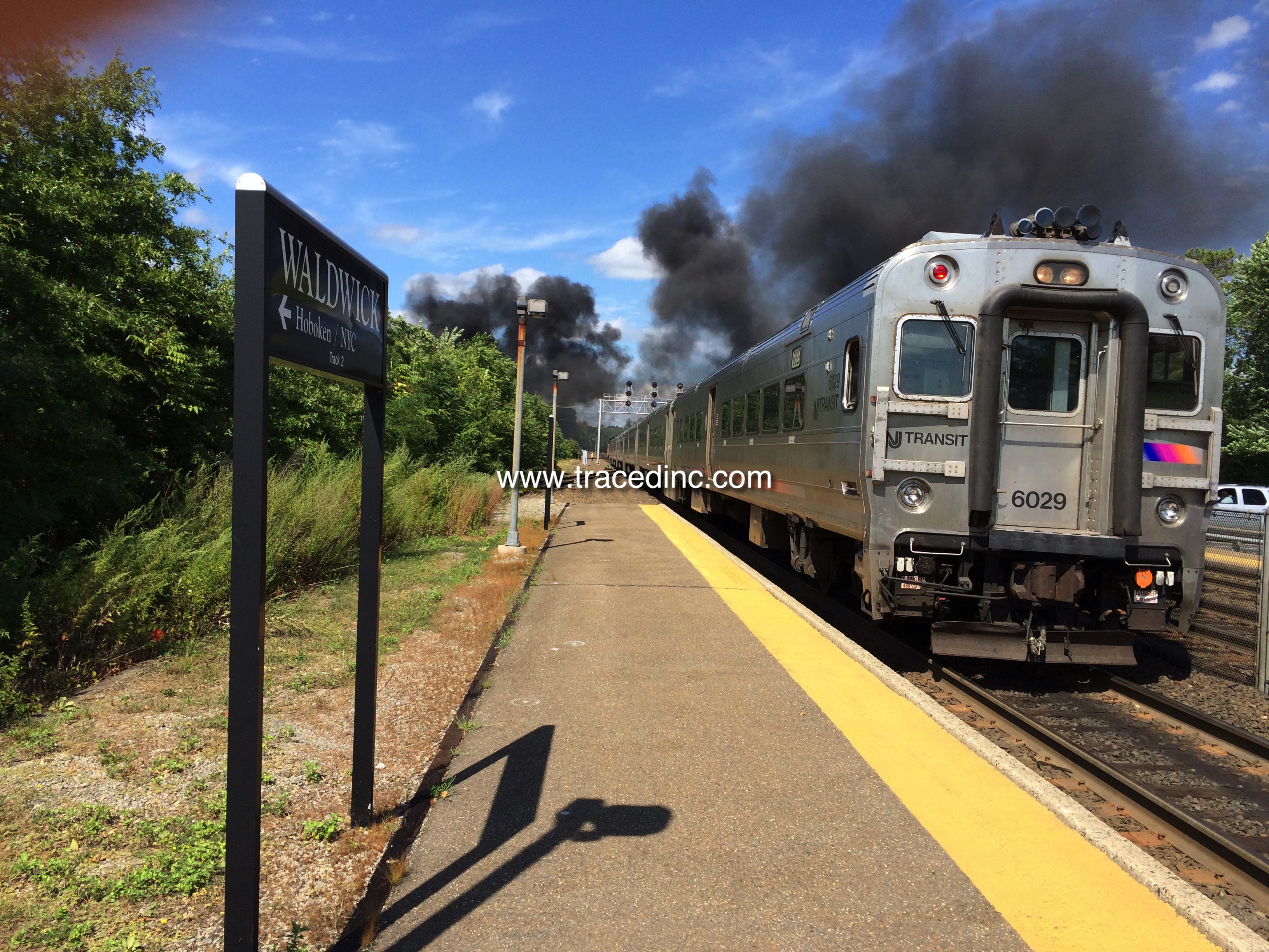 Waldwick PSEG Fire NJ Transit Train